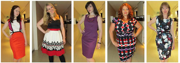 Five Fashion Bloggers in their Chosen M&S Dresses