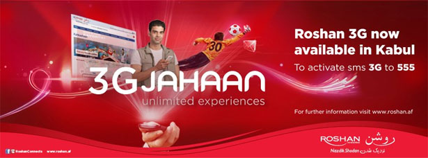 Roshan 3G Jahaan in Afghanistan