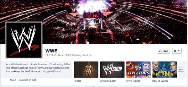 WWE on Facebook