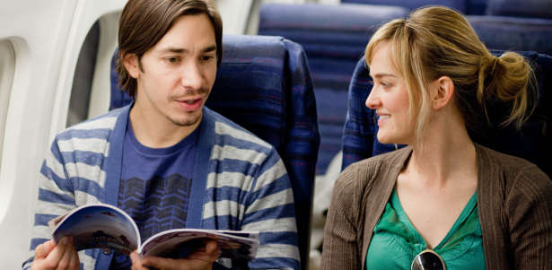 Justin Long and Jess Weixler in BEST MAN DOWN, a Magnolia Pictures release.