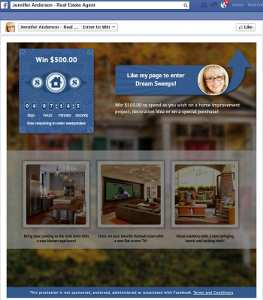 Dream Sweeps for Real Estate Agents on Facebook