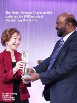 Shiv Nadar Honored with BNP Paribas Award