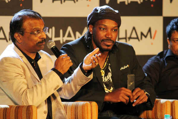 L. Subhash Chandra (MD - Wham!) with Chris Gayle