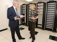 UK Home Secretary Theresa May Opens New Data Centre