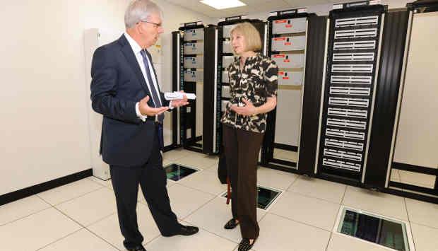 UK Home Secretary Theresa May Opens New Data Centre