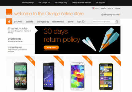 Orange E-Commerce Site