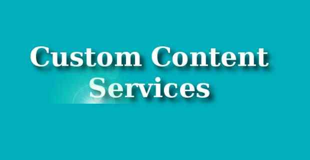 Custom Content Services from RMN Company