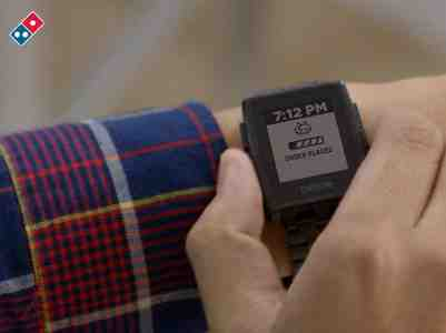 Pebble Smartwatch to Help You Track Your Domino's Pizza