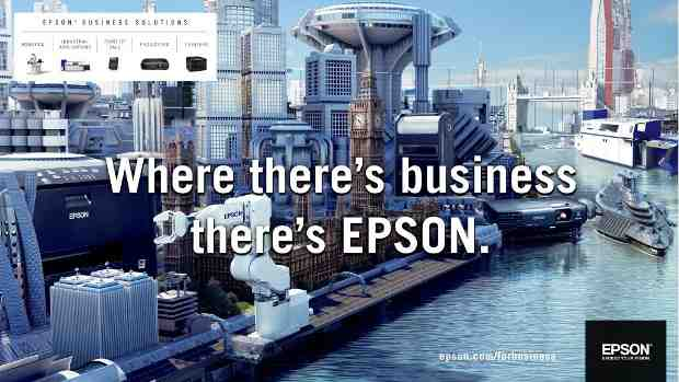 "Brand Campaign: ""Where there's business there's Epson"""