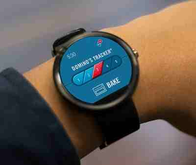 Ordering Pizza on Pebble and Android Wear Smartwatches