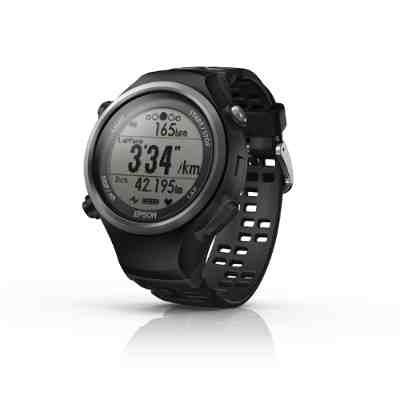 The Runsense SF-810 GPS Watch with wrist-mounted heart rate