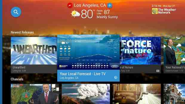 the weather network u0026 39 s live weather android tv app channel