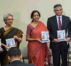 Pictured from Left to Right: NASSCOM President R. Chandrashekhar, Commerce Secretary Rita Teaotia of India, Minster for Commerce and Industry of India Nirmala Sitharaman, Indian Ambassador to the U.S. Arun Singh, NASSCOM Chairman Mohan Reddy
