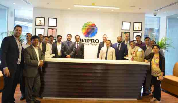 Wipro Ltd's new office opening in Qatar- inaugurated by Jack Smies, Vice President and Business Head Middle East, Wipro Limited (in the Center).