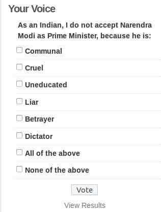 Online Poll: Narendra Modi