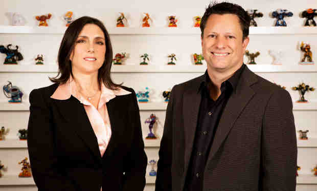 Activision Blizzard Studios Co-Presidents Stacey Sher (L) and Nick van Dyk (R)
