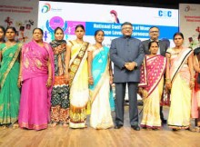 Ravi Shankar Prasad at the inauguration of the National Conference of Woman Village Level Entrepreneurs, in New Delhi on February 20, 2016