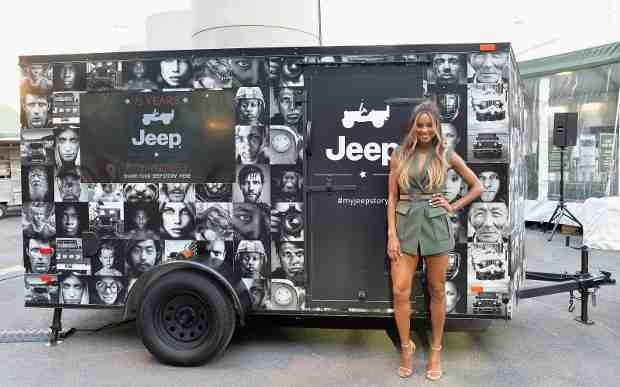 Ciara celebrates Jeep brand 's 75th anniversary by visiting Camp Jeep at NYAS