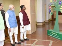 Narendra Modi at the launching ceremony of e-NAM in New Delhi on April 14, 2016