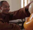 Master Shi Xianfan is head of Longquan Temple's comic center and creator of Xian 'er