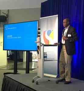 UNICEF Deputy Executive Director Omar Abdi addressing the San Francisco workshop
