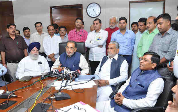 Radha Mohan Singh addressing after launching the Krishi Vigyan Kendra (KVK) portal in New Delhi on July 08, 2016