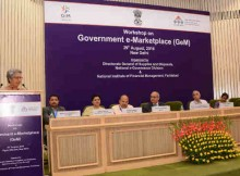 The Commerce Secretary, Ms. Rita A. Teaotia addressing the Government e-Marketplace (GeM) Workshop for Suppliers, in New Delhi on August 29, 2016