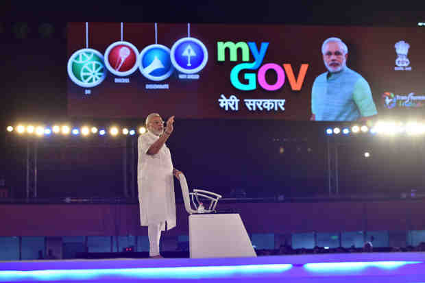 Narendra Modi at the 2nd Year Anniversary celebrations of MyGov, in New Delhi on August 06, 2016