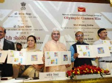 India Unveils Postage Stamps on Rio Olympics