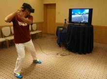 Toshiaki Imae using the new VR system