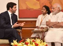 Narendra Modi with Jeff Weiner