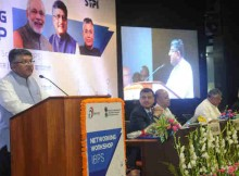Ravi Shankar Prasad delivering the inaugural address at the Networking workshop on India BPO Promotion Scheme under Digital India Programme, in New Delhi on October 03, 2016