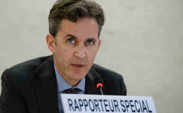 Special Rapporteur on the promotion and protection of the right to freedom of opinion and expression David Kaye. UN Photo/Jean-Marc Ferré