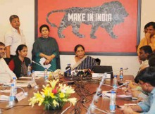 Smt. Nirmala Sitharaman addressing at the launch of the new Dashboard on Foreign Trade Data, in New Delhi on October 10, 2016