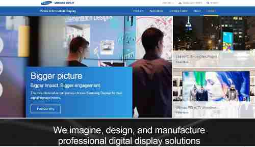 Samsung Portal Allows You to Know About Display Panels