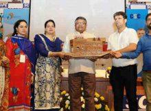 The Union Minister for Electronics & Information Technology and Law & Justice, Shri Ravi Shankar Prasad at the Jammu & Kashmir Village Level Entrepreneurs conference (VLEs), in New Delhi on October 24, 2016