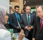 UN Chief Ban Ki-moon Visits the Virtual Future of Riyadh
