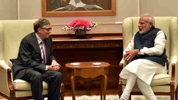 The Co-Chairman of the Bill & Melinda Gates Foundation, Mr. Bill Gates calls on the Prime Minister, Shri Narendra Modi, in New Delhi on November 16, 2016