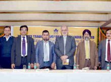 The Ambassador of Islamic Republic of Iran to India, Mr. Gholamreza Ansari, the Additional Secretary, Ministry of Commerce, Dr. Inder Jit Singh, the CMD, STC, Mr. Khaleel Rahim and dignitaries at the launch of the Hind-Iran Trade Portal, in New Delhi on November 17, 2016