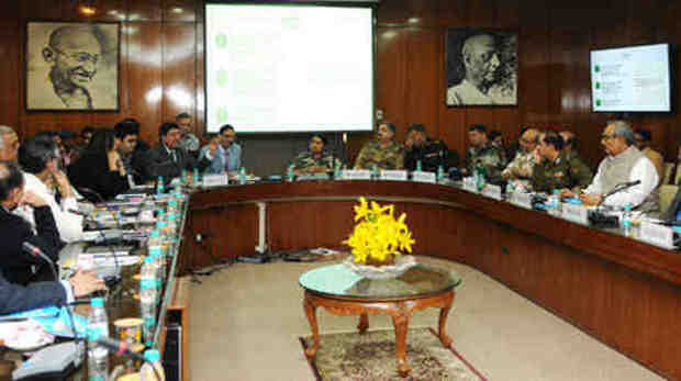 Officers of the NITI Aayog making a presentation on 'Digital Payments' in New Delhi on December 02, 2016