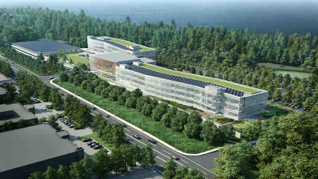 Rendering of the new 350,000-square-foot LG North American Headquarters