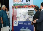 """Manoj Sinha launching the C-DOT's Public Data Office, at a Workshop on """"Future Proof Smart Cities with a Common Service Layer"""", at the India-EU ICT Standardisation Collaboration, in New Delhi on April 21, 2017"""
