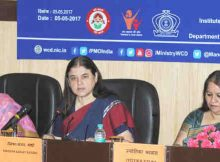 Smt. Maneka Sanjay Gandhi addressing at the inauguration of the first ever Workshop on Sexual Harassment of Women at Workplace (Prevention, Prohibition and Redressal) Act, 2013 for Government ICCs, in New Delhi on May 05, 2017