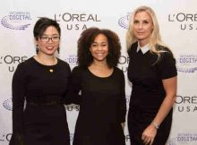 2016 Women in Digital finalists: Grace Woo, Co-Founder Pixels.IO; Morgan DeBaun, CEO of Blavity and Grainne Barron, CEO and Founder, Viddyad/ Courtesy of L'Oréal