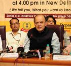 Arun Jaitley addressing at the launch of the Aaykar Setu - a new tax payer e-Service module, in New Delhi on July 10, 2017