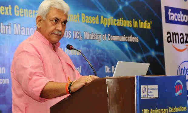 The Minister of State for Communications (Independent Charge) and Railways, Shri Manoj Sinha addressing at the 10th Anniversary Celebrations of IPTV Society, in New Delhi on July 14, 2017