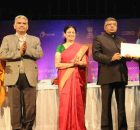 """Ravi Shankar Prasad at the inauguration of the National meet of District Informatics officers on """"Vision insight and voice as India goes digital"""", in New Delhi on February 08, 2018"""