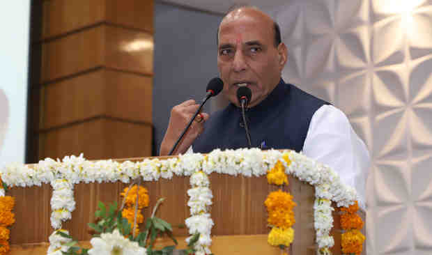 Rajnath Singh addressing the gathering after inaugurating the 24th All-India Forensic Science Conference, in Ahmedabad on February 10, 2018