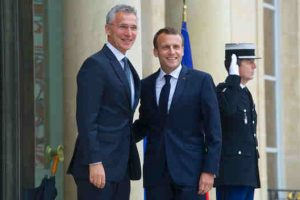 NATO Secretary General Jens Stoltenberg meets with the President of France, Emmanuel Macron. Photo: NATO
