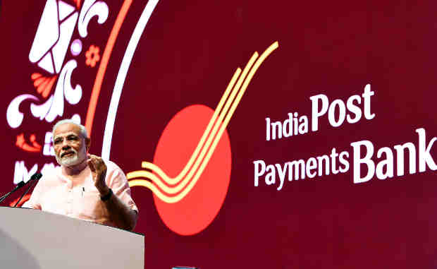 Narendra Modi addressing at the launch of the India Post Payments Bank, in New Delhi on September 01, 2018